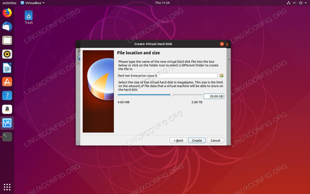 Set HDD Size on VirtualBox