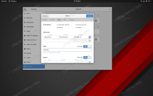 Changing the IP address in RHEL 8 from within GNOME is a matter of a few clicks