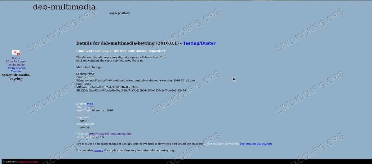Deb-Multimedia Repository
