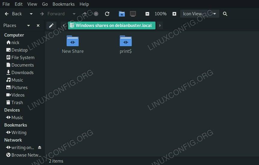 Browse Samba Share on Debian 10