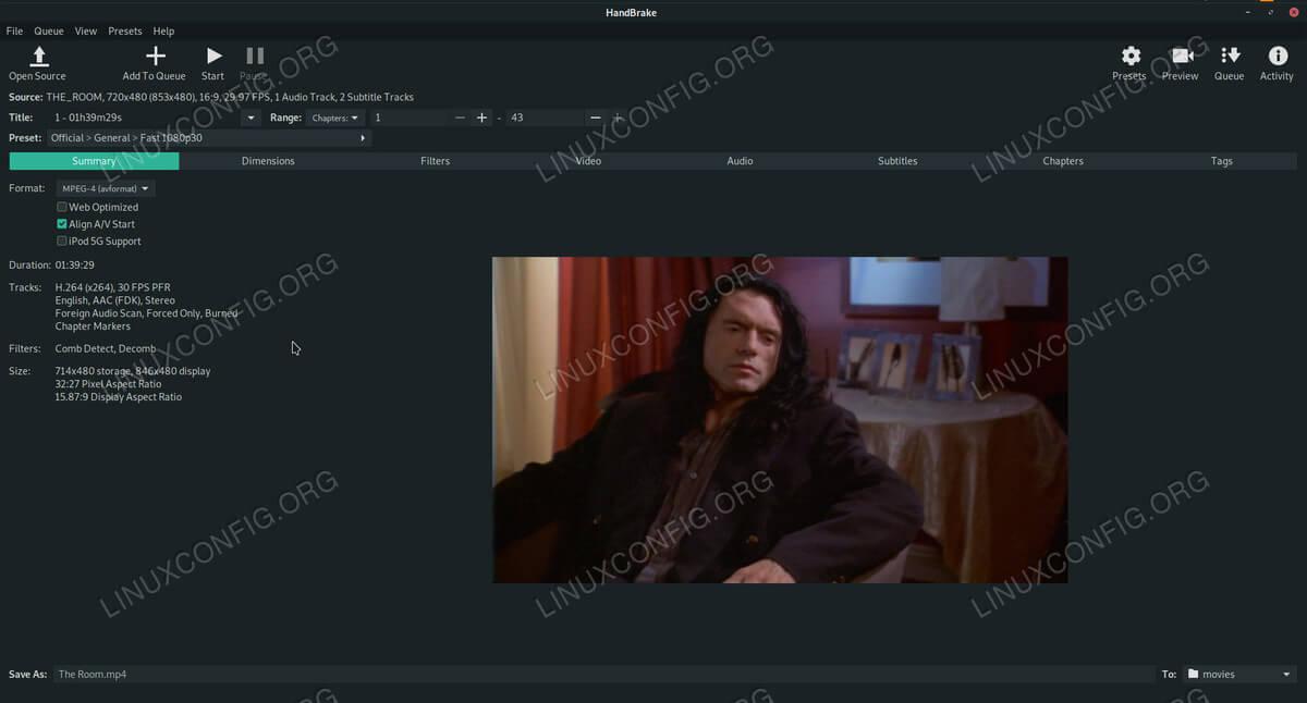Handbrake on Debian 10