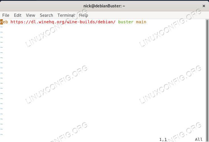 Add the Wine Repository on Debian 10