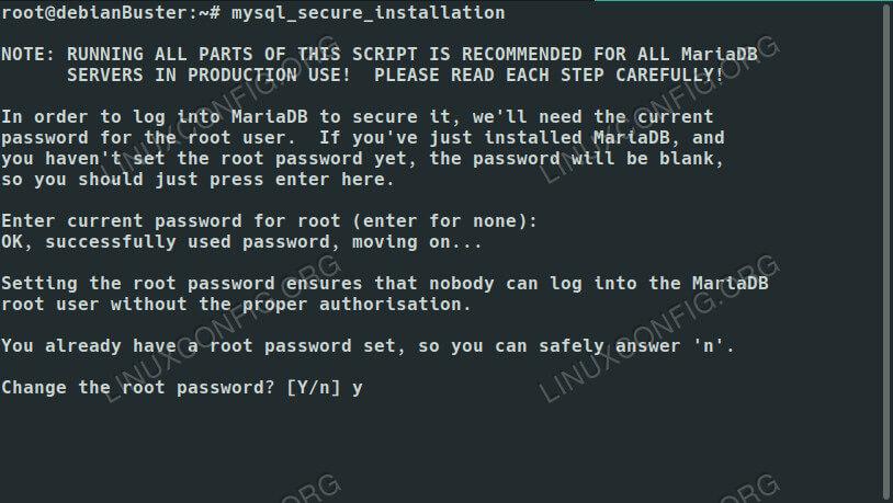 MariaDB Secure Setup on Debian 10