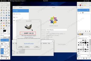 GIMP on CentOS 8 / RHEL 8 Linux