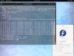 Docker on Fedora 31
