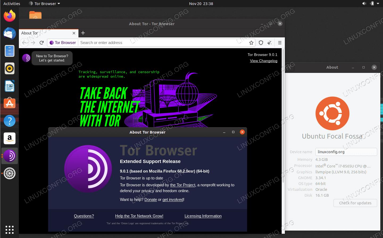 Tor Browser on Ubuntu 20.04 LTS Focal Fossa