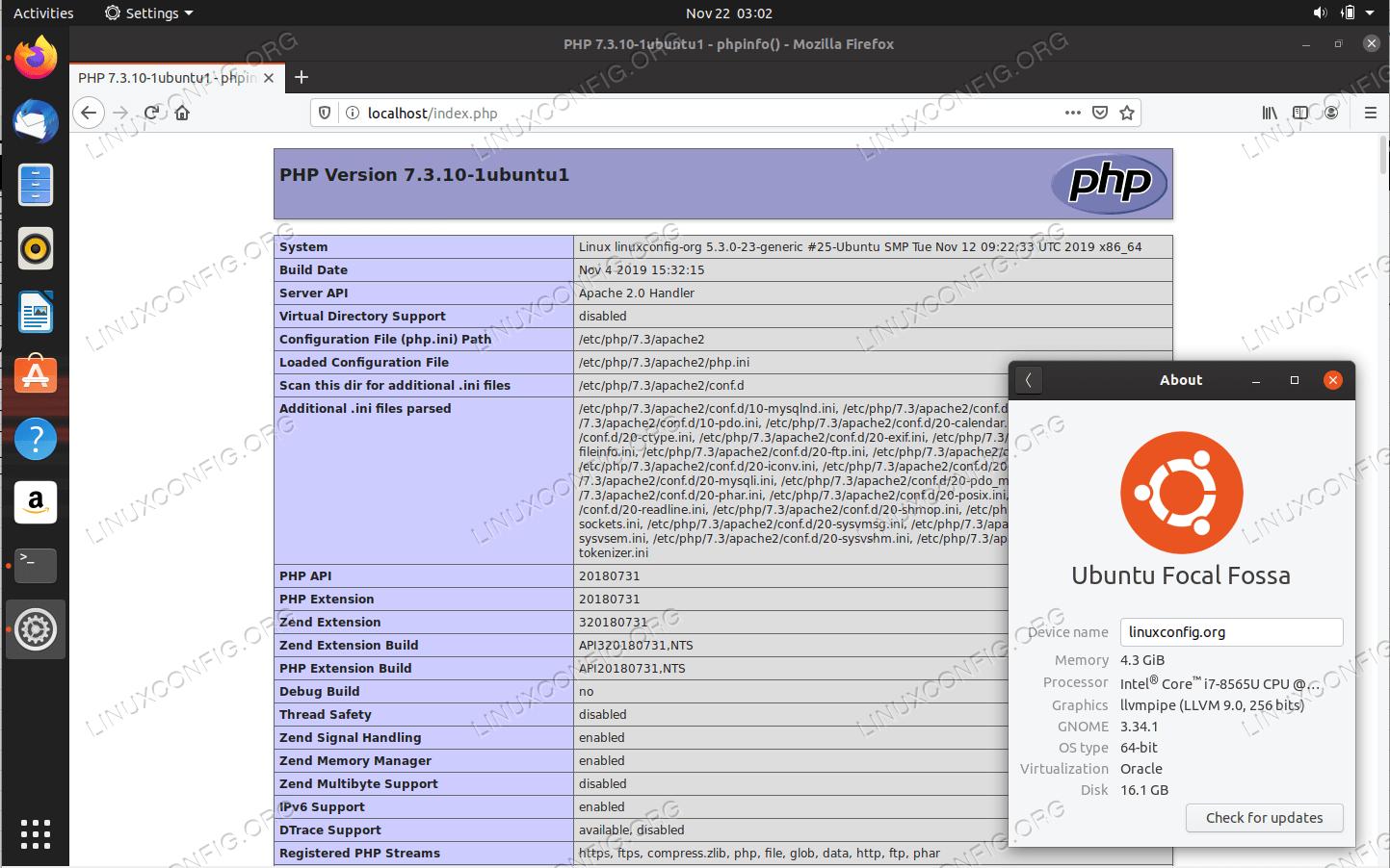LAMP server setup on Ubuntu 20.04 Focal Fossa