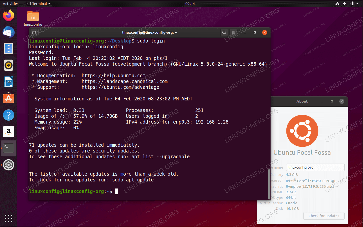 dynamic motd and news on Ubuntu 20.04 Focal Fossa Linux