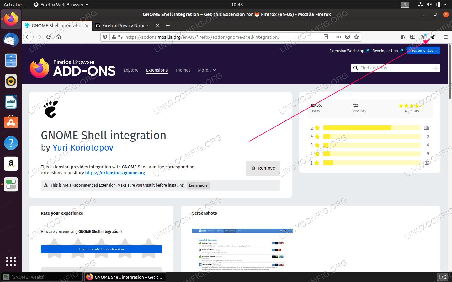 GNOME extension icon