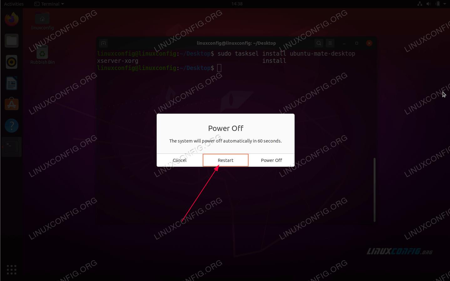 Reboot your Ubuntu 20.04 system