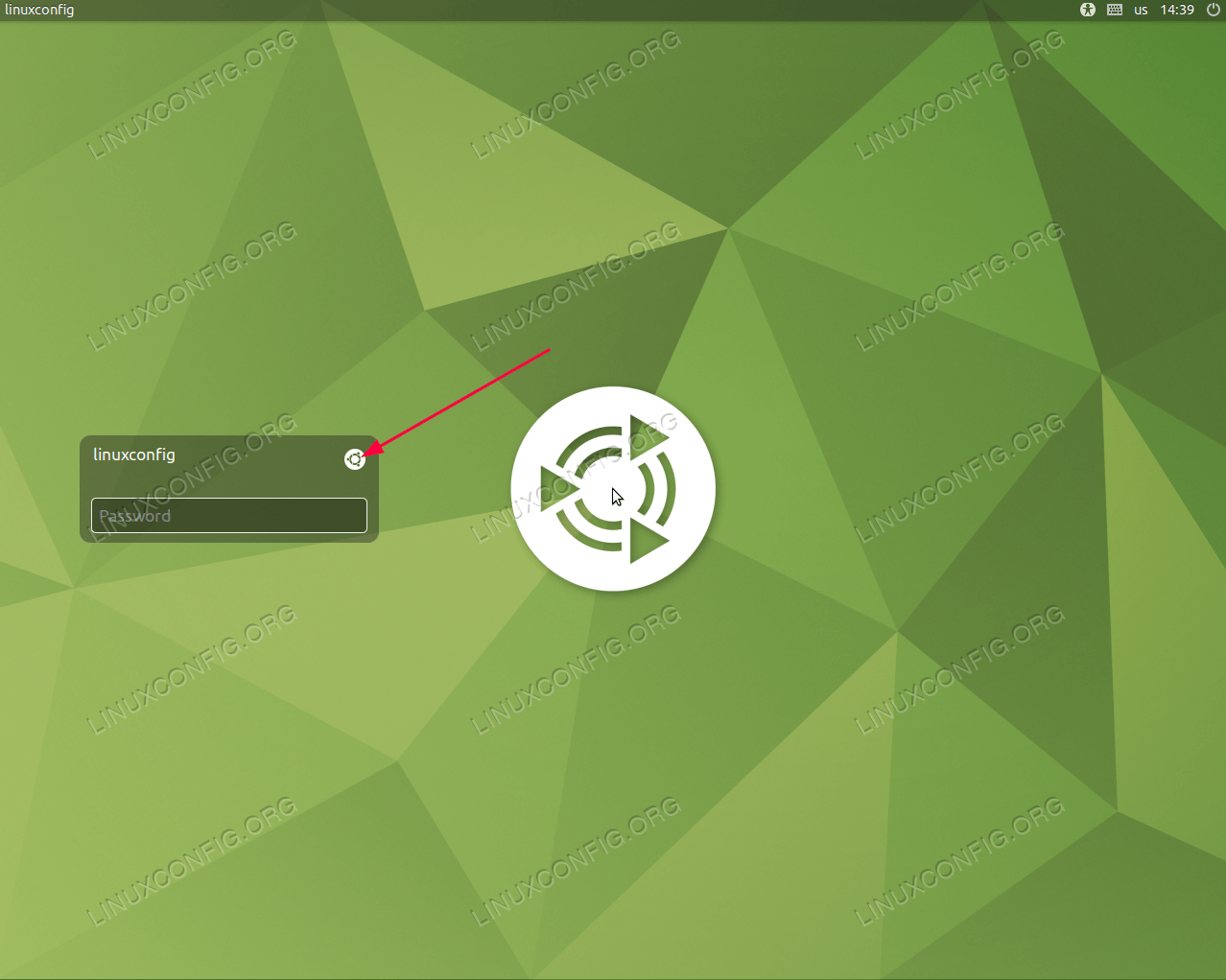 Open Desktop session selection menu