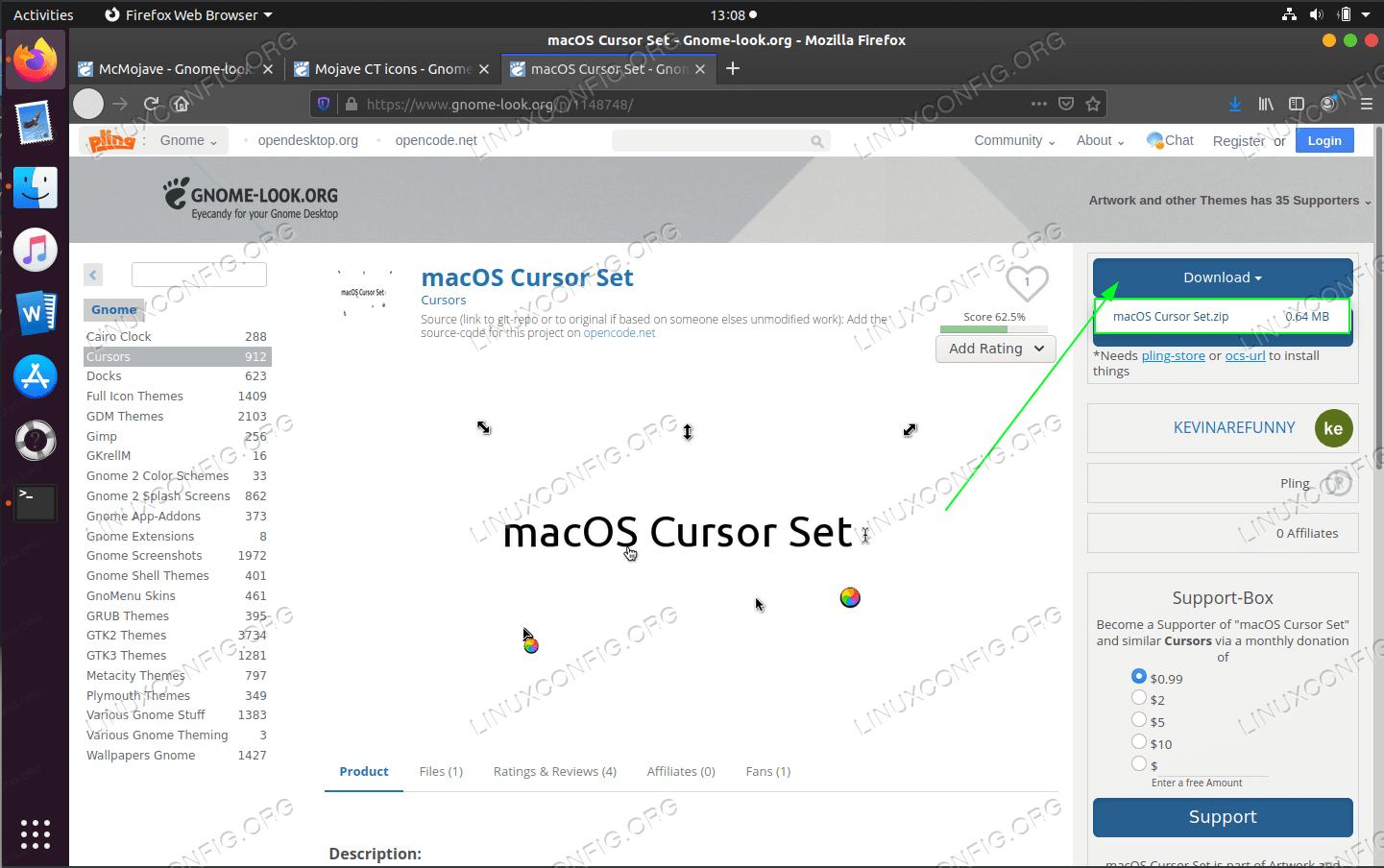 download the macOS cursor set