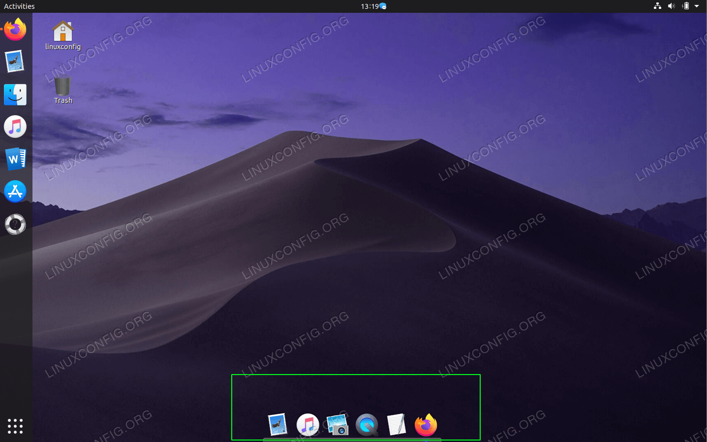 At this point you should see the macOS panel at the bottom of your desktop.