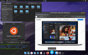 macOS theme on Ubuntu 20.04 Focal Fossa Linux