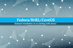 How to install Fedora/RHEL/CentOS via kickstart on an existing LUKS device