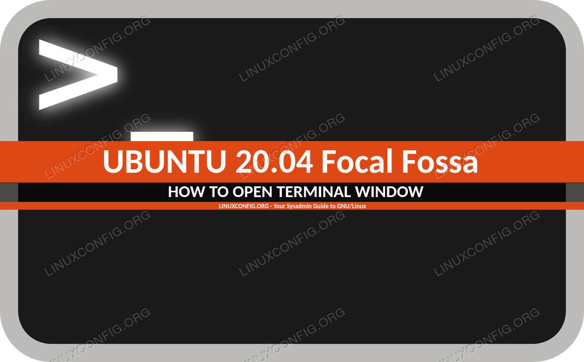 Shortcuts to access terminal on Ubuntu 20.04 Focal Fossa