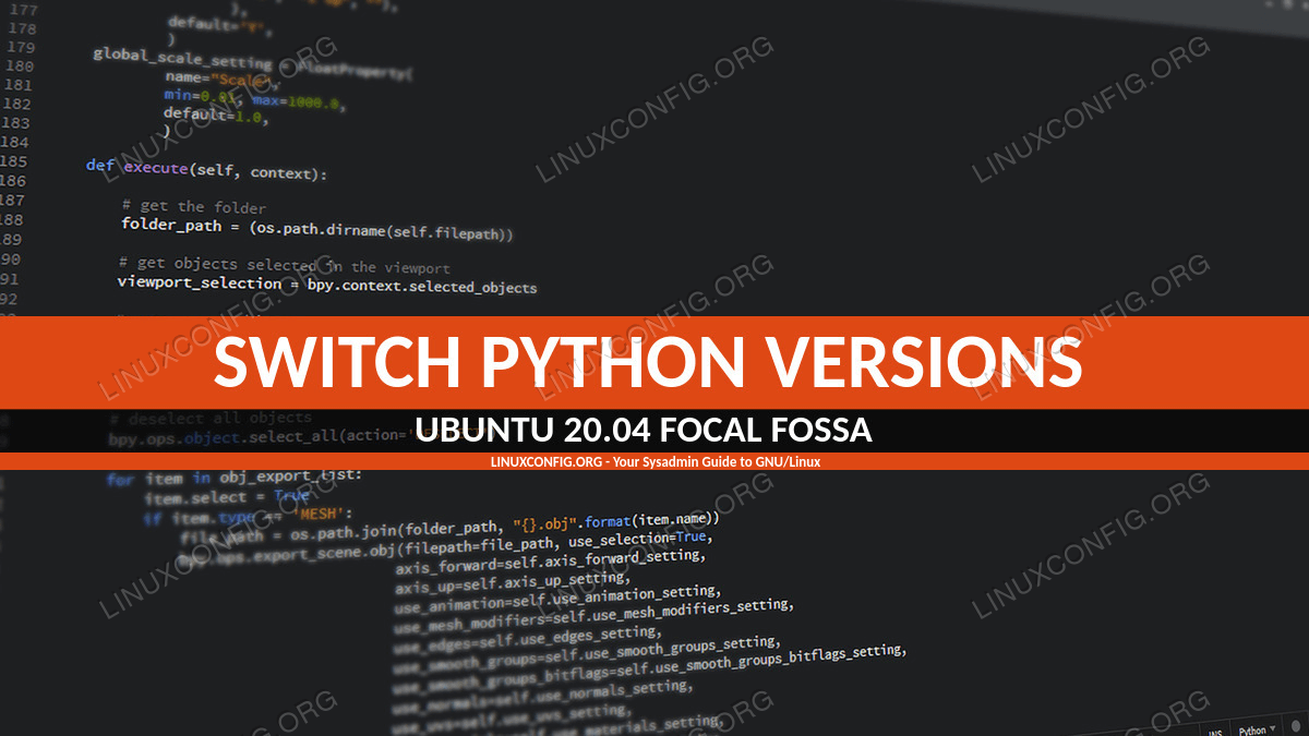 How to switch between alternative Python Versions