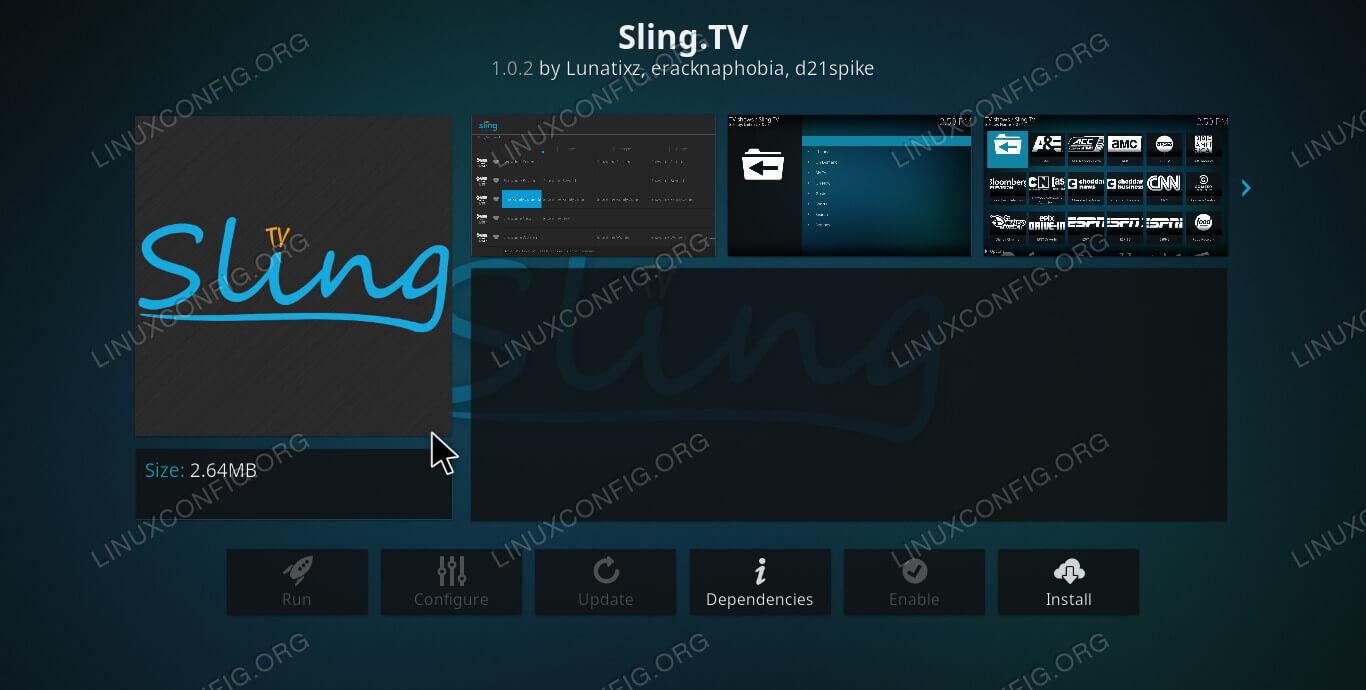 Sling TV on Kodi