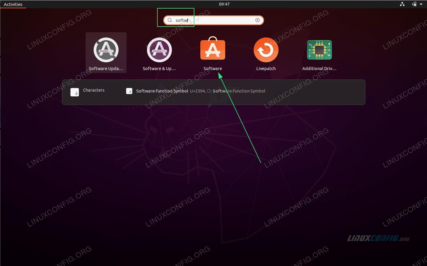 Open software application