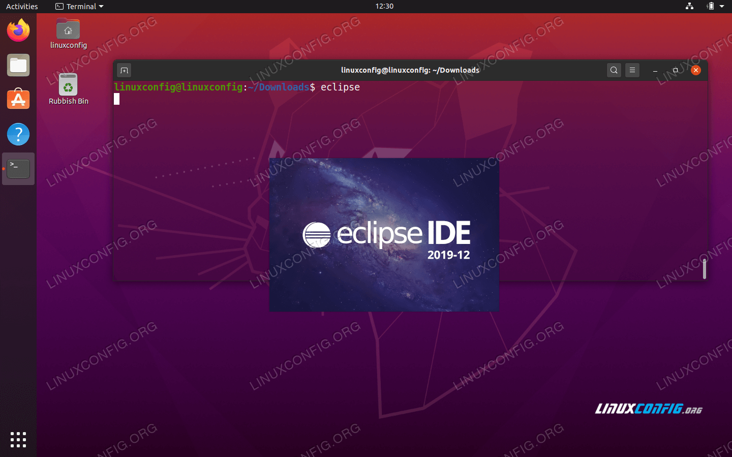Start Eclipse IDE for C/C++ Developers from command line
