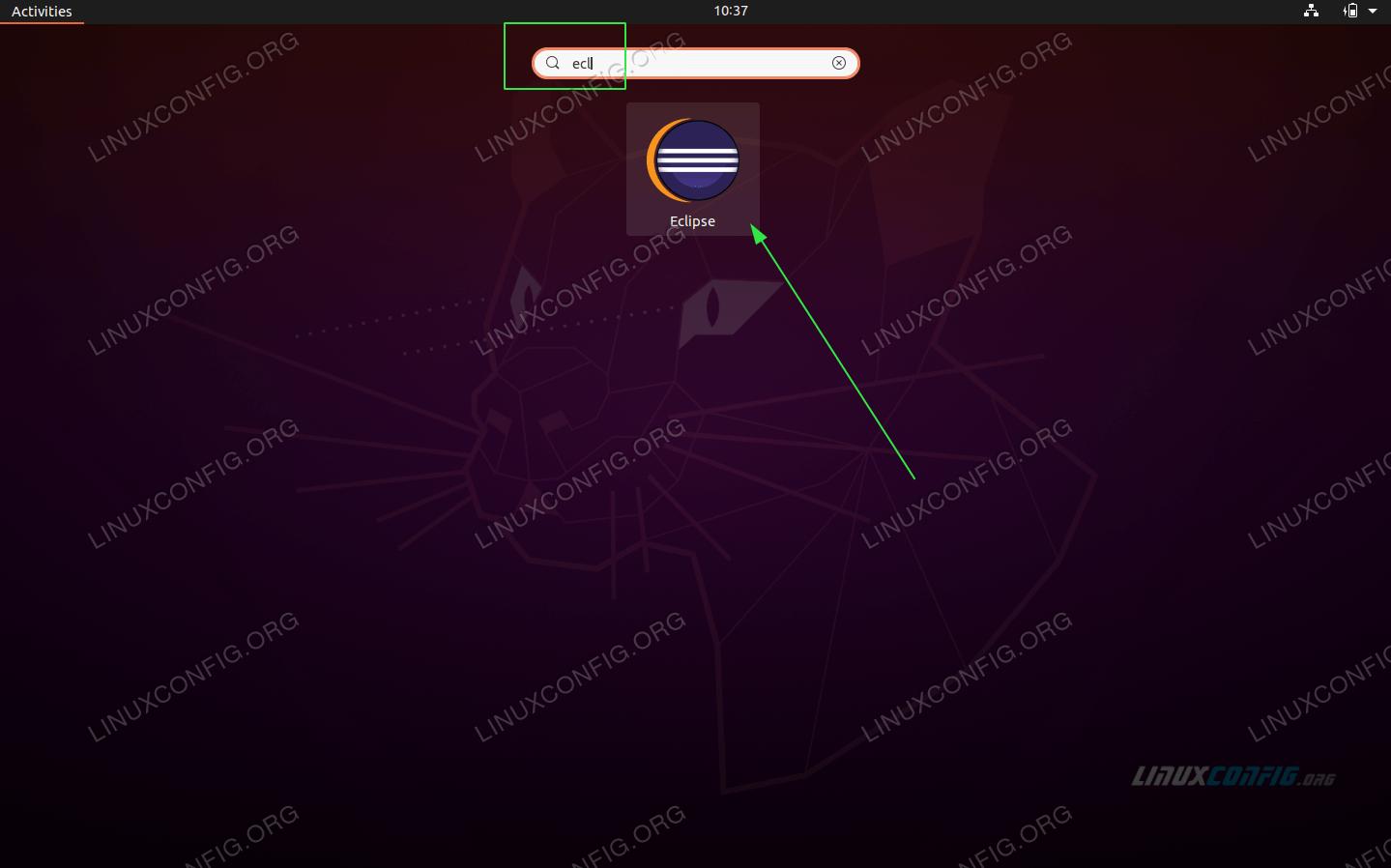 start the Eclipse IDE