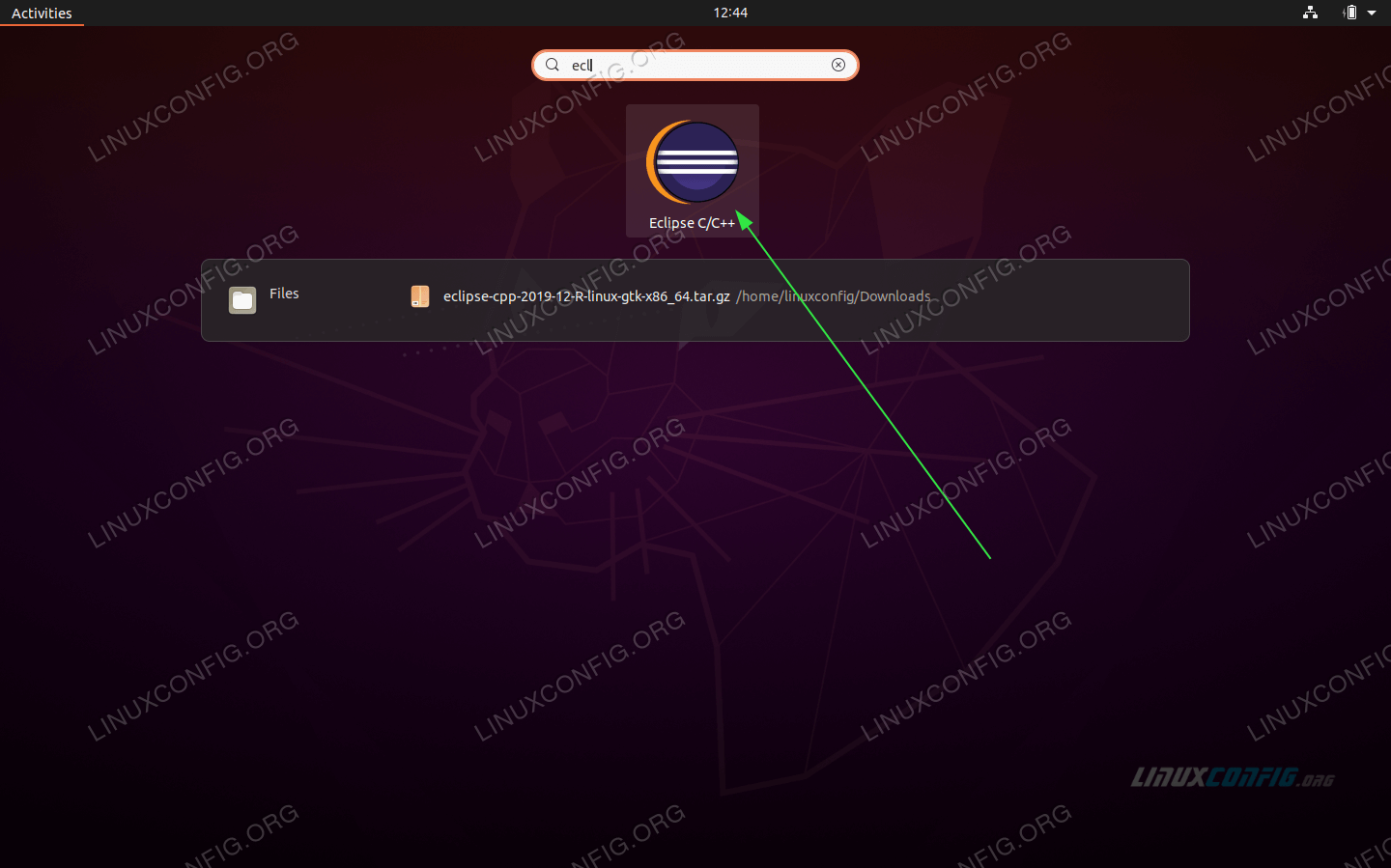 start the the Eclipse IDE