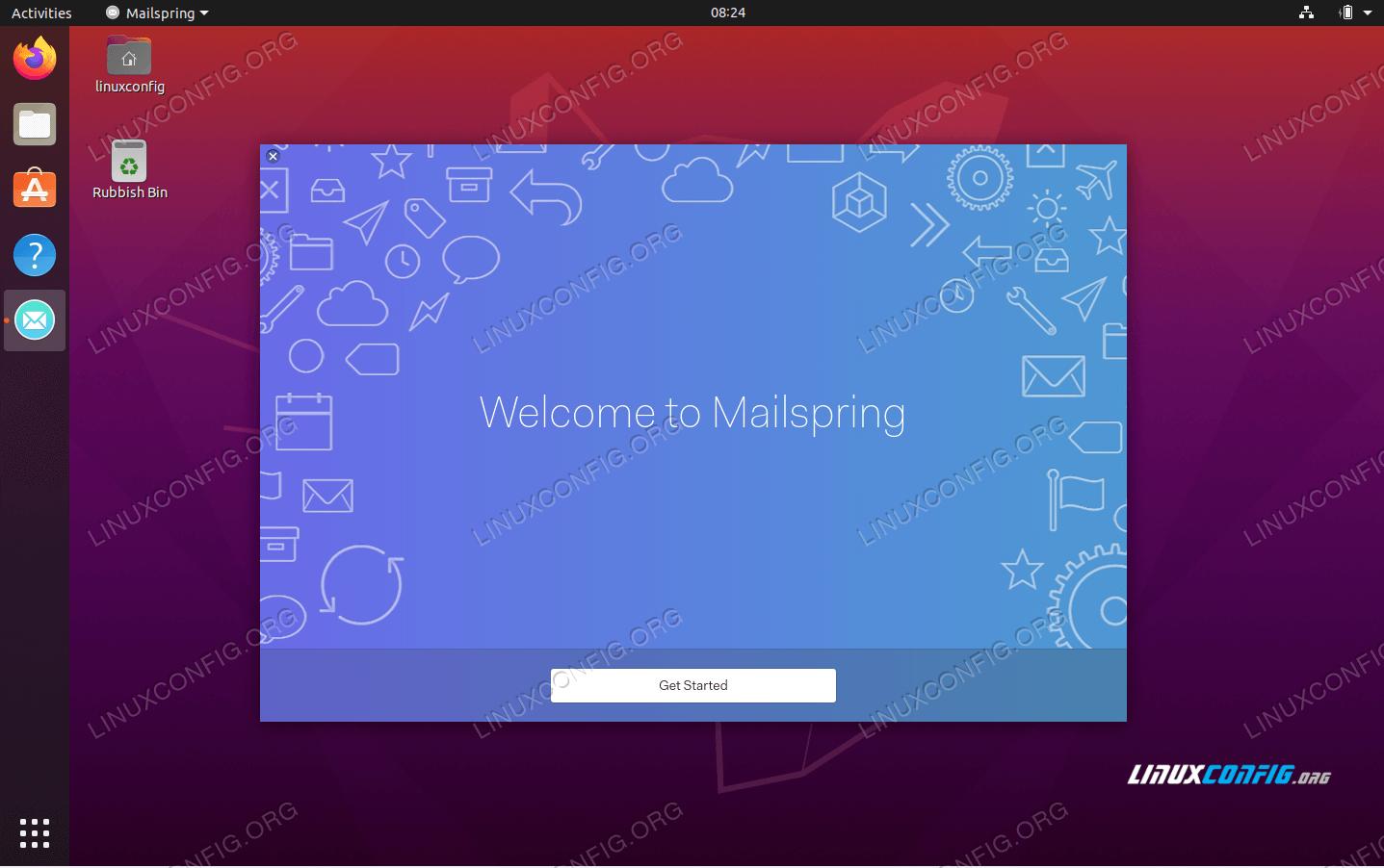 Mailspring installation on Ubuntu 20.04 Focal Fossa