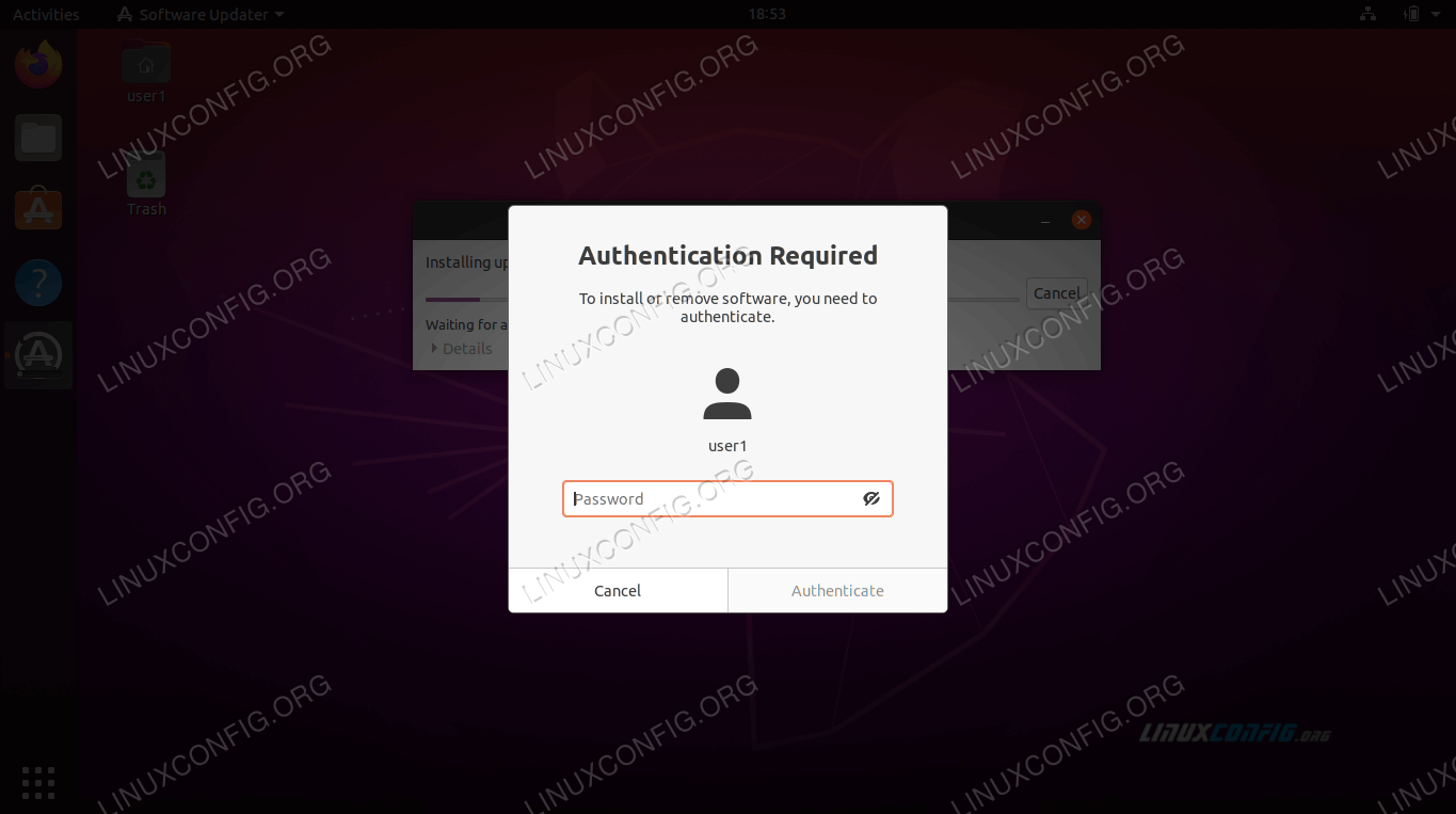 Root password is required for software updates