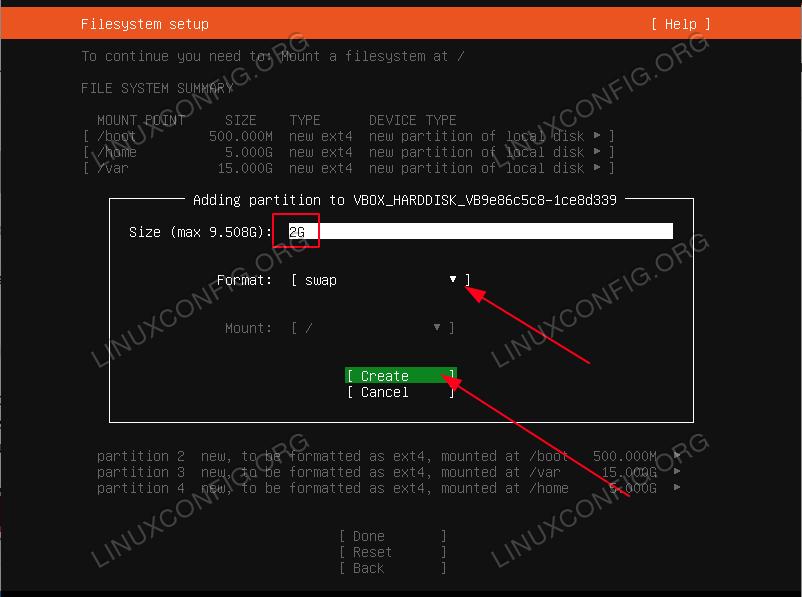 swap partition