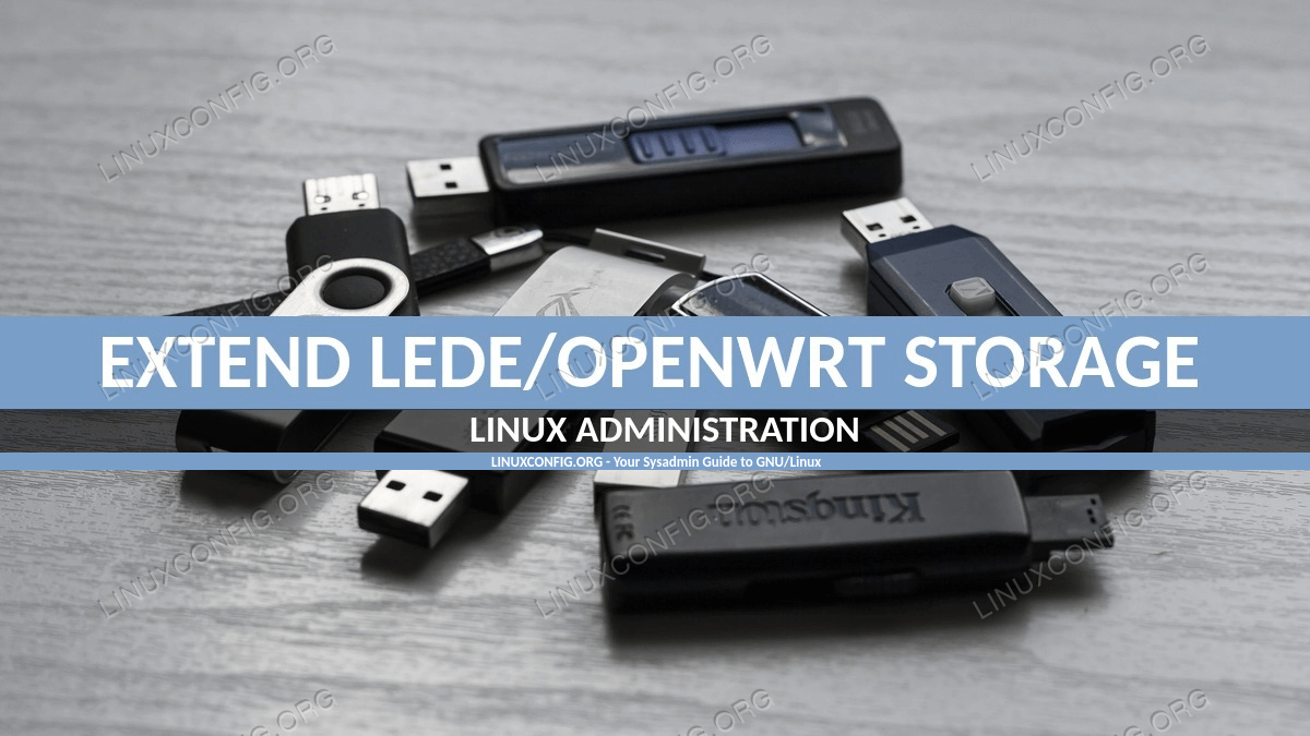 Extend LEDE/OpenWRT system storage with USB
