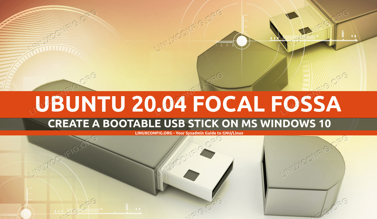 Creating a bootable Ubuntu USB stick on MS Windows