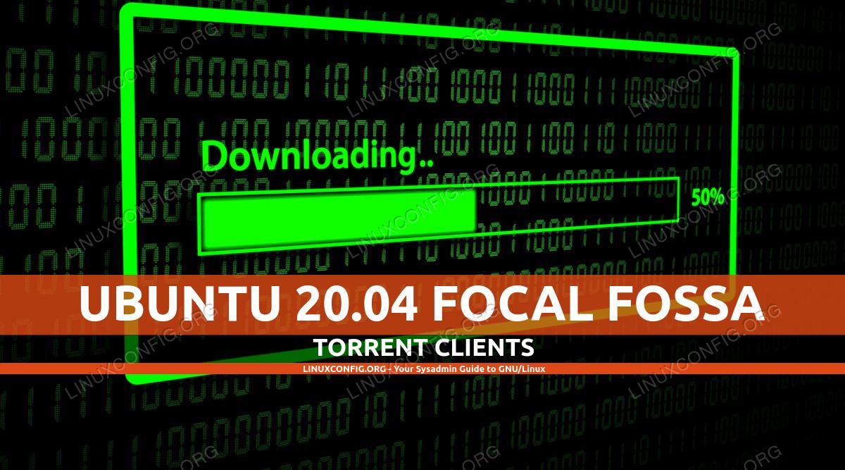 Running a GUI torrent client on Ubuntu 20.04