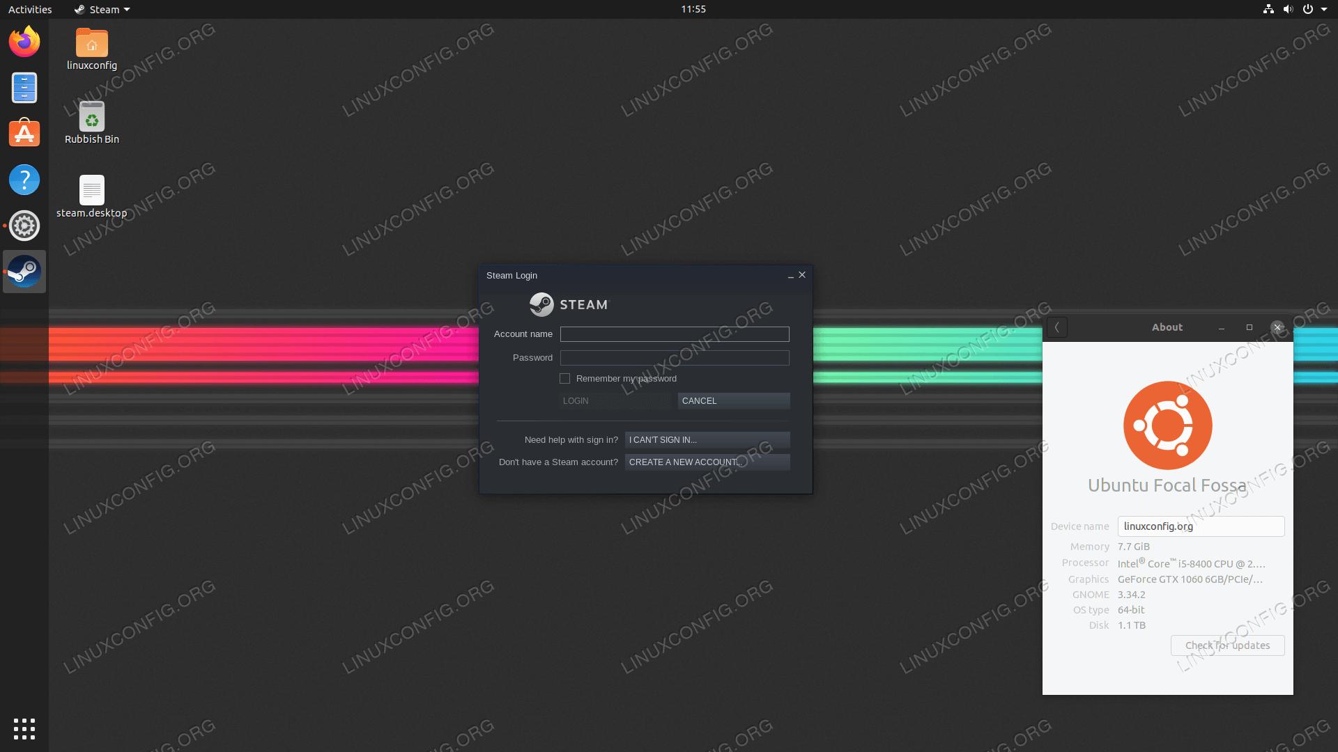 Steam on Ubuntu 20.04 Focal Fossa Linux