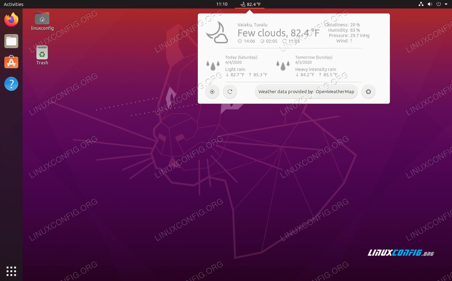Running a Gnome Shell Extension of Ubuntu 20.04 Focal Fossa