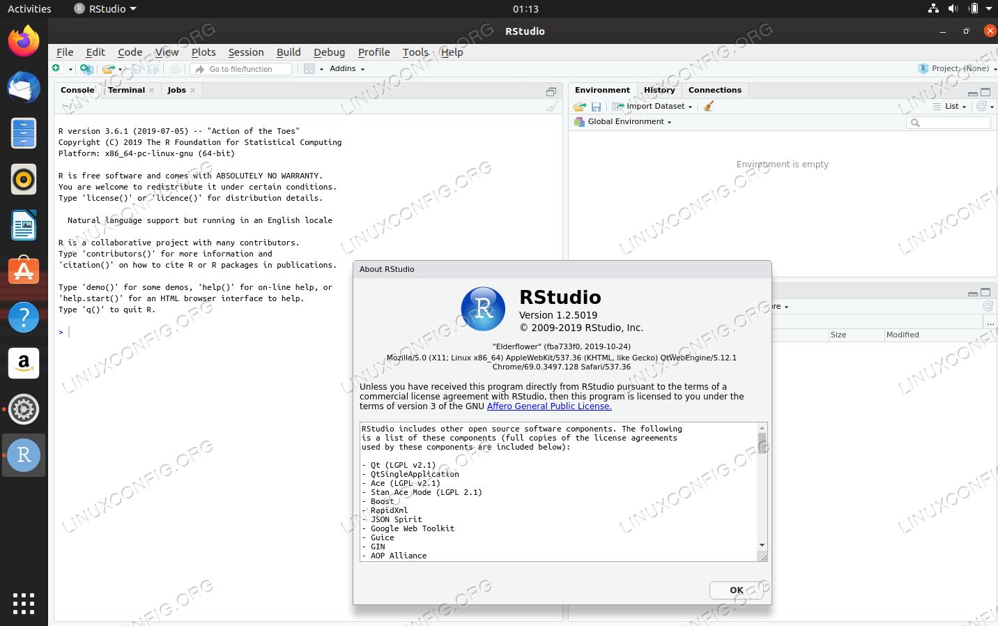 RStudio on Ubuntu 20.04 Focal Fossa Linux