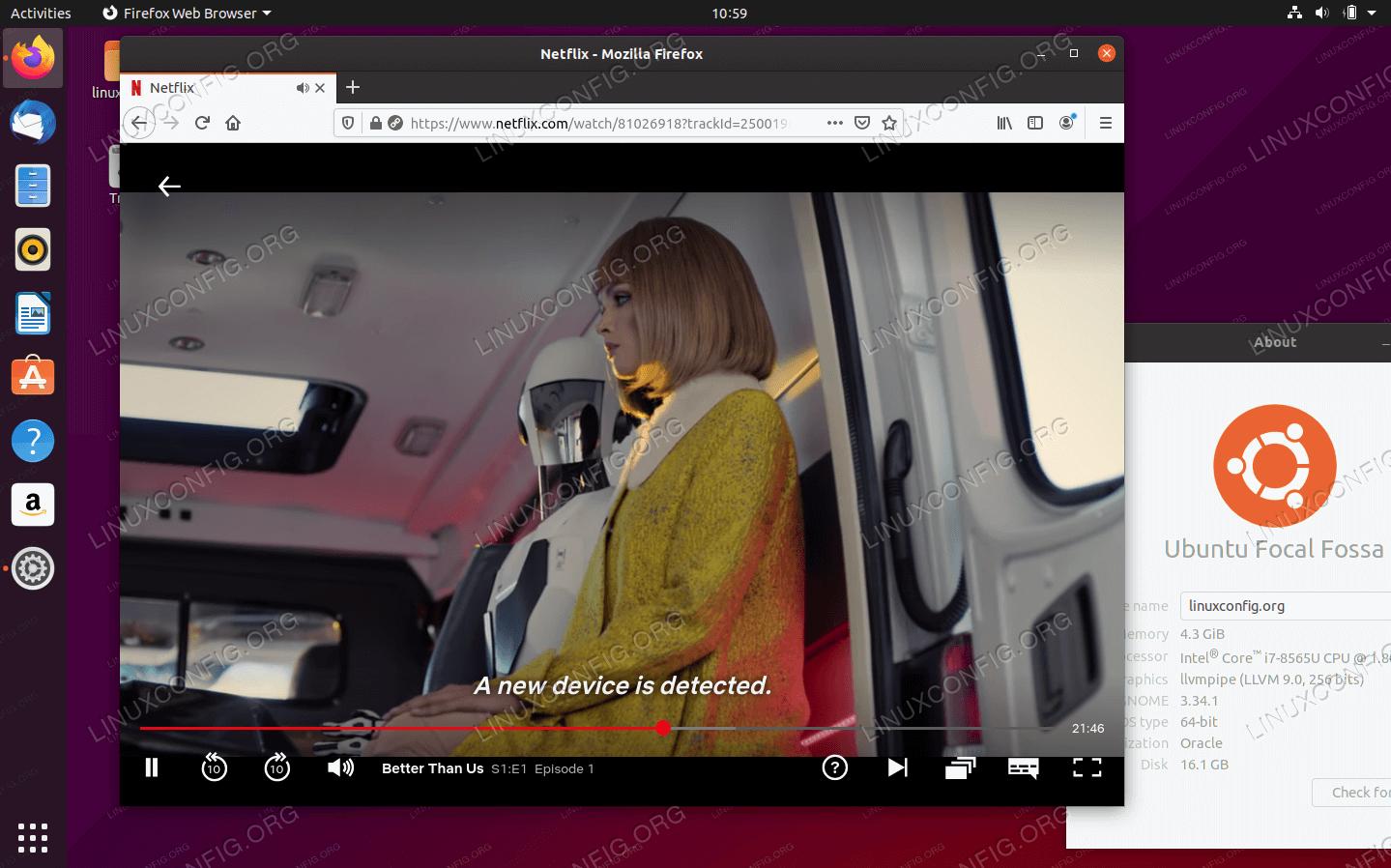 Watching Netflix on Ubuntu 20.04