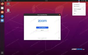 ZOOM teleconferencing client on Ubuntu 20.04 Focal Fossa Desktop