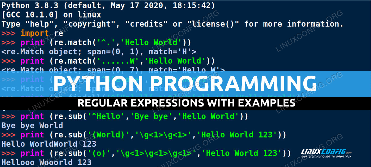 Python Regular Expressions with Examples