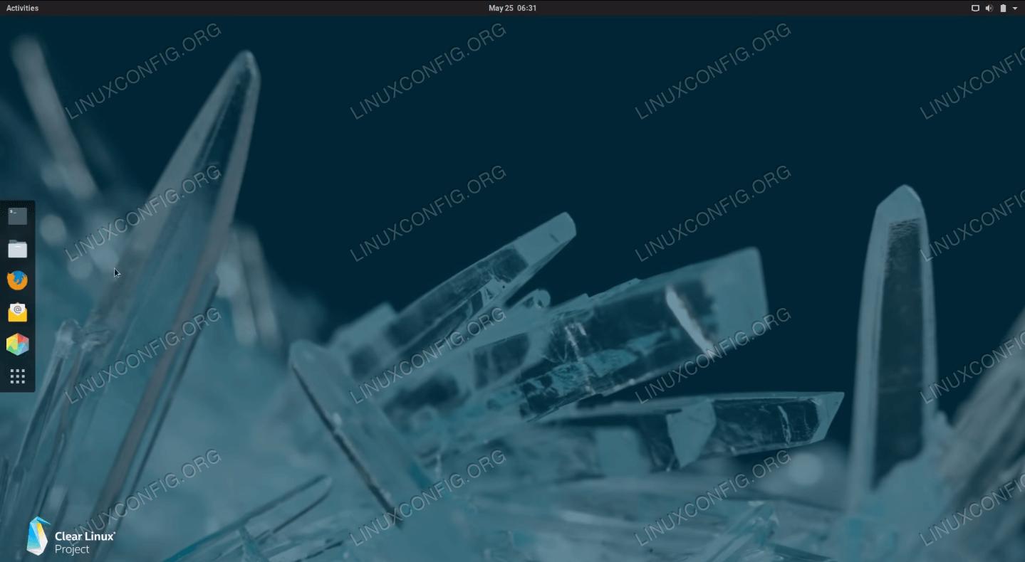 Clear Linux desktop