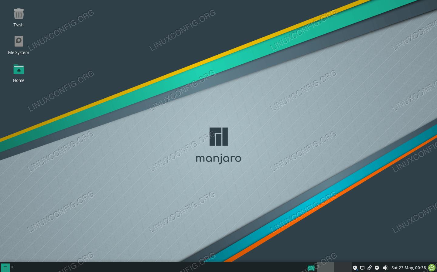 Manjaro running Xfce desktop environment