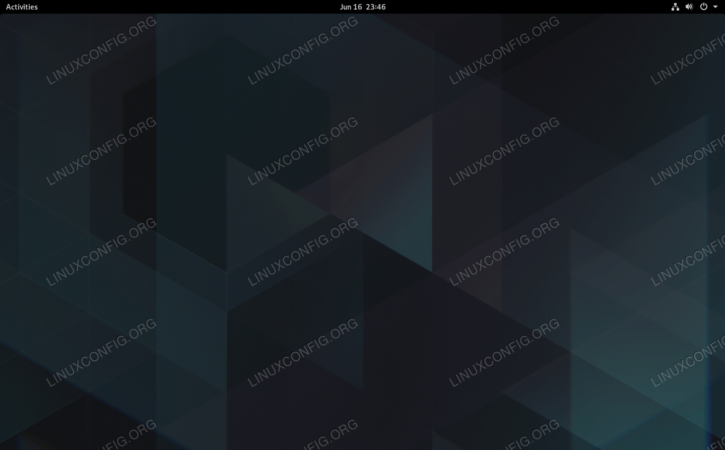 GNOME loaded on Manjaro with default settings