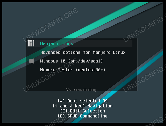 Bootloader asking which operating system to load into