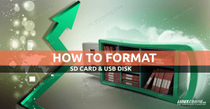 Formatting SD or USB disk on Linux
