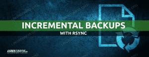 How to create incremental backups using rsync on Linux