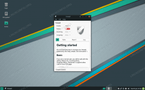 Settings menu for enabling and disabling the system firewall in Manjaro Linux