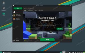 Minecraft installed and running on Manjaro Linux