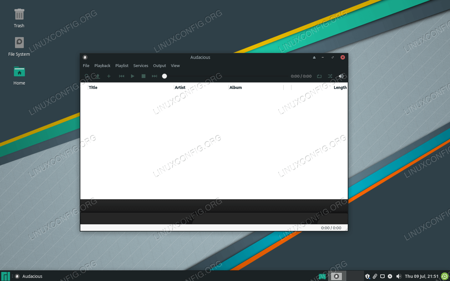Watching a movie on Manjaro Linux