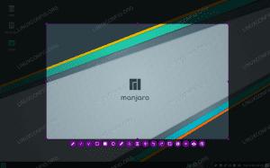 Taking a screenshot on Manjaro Linux