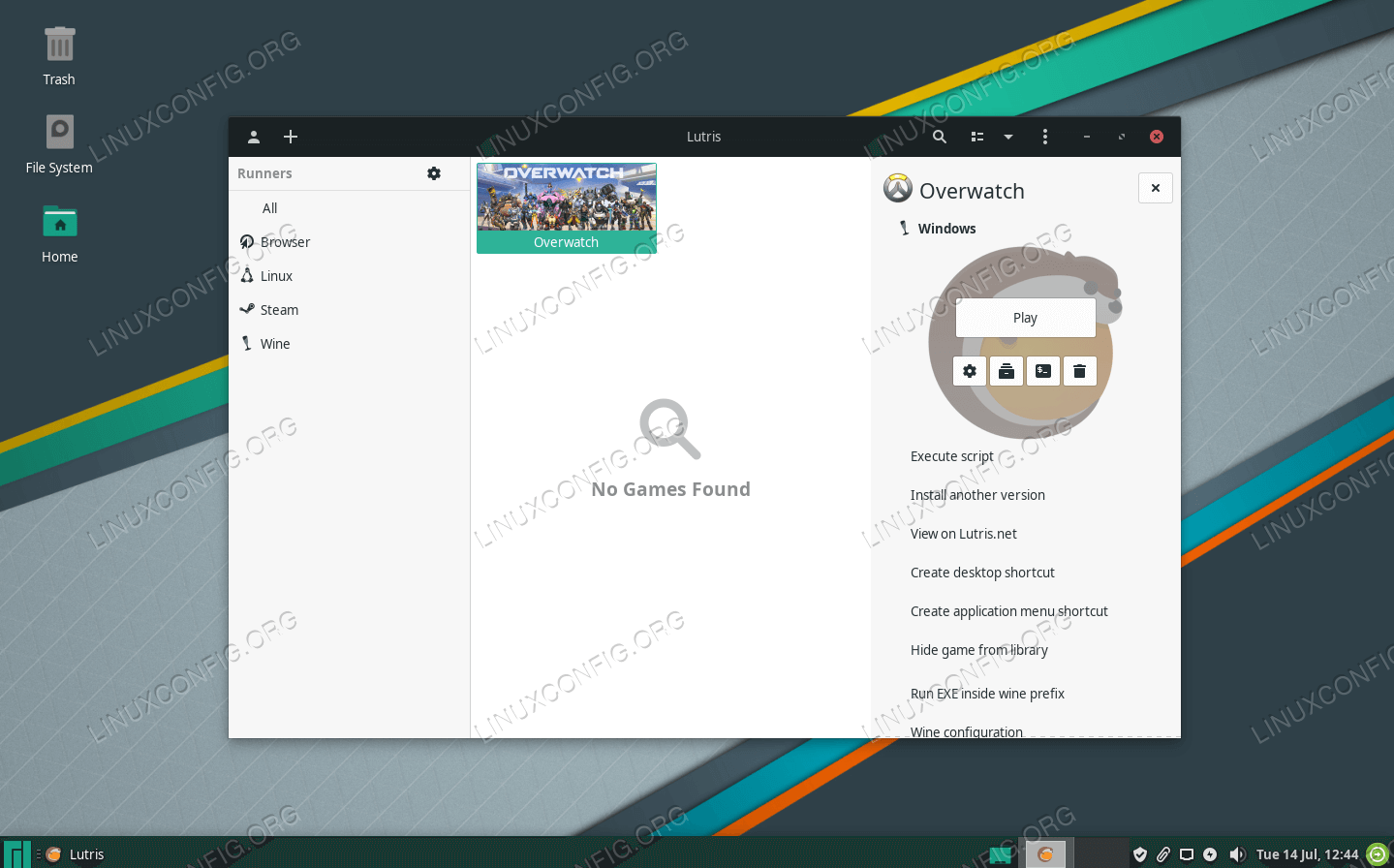 Installing Lutris and games on Manjaro Linux