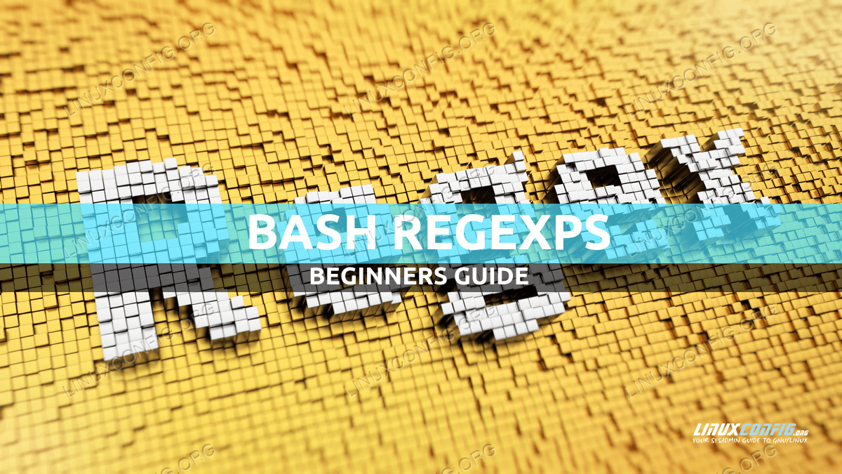 Bash regexps for beginners with examples